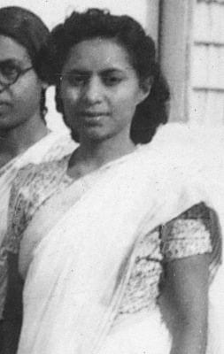 Violet at IISc around 1945 (Photo: APC, IISc)