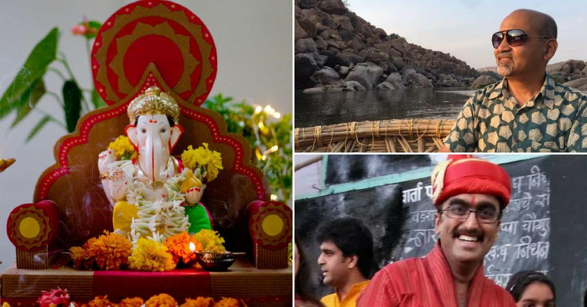 Pune Duo Makes Eco-Alternatives to Plastic, Thermocol Decor For Ganpati Festival!