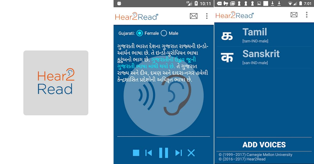 HEAR2READ app that aids visually impaired students