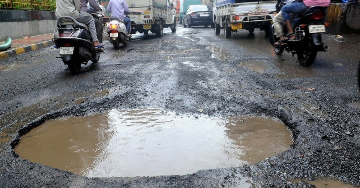 Potholes in Indian roads