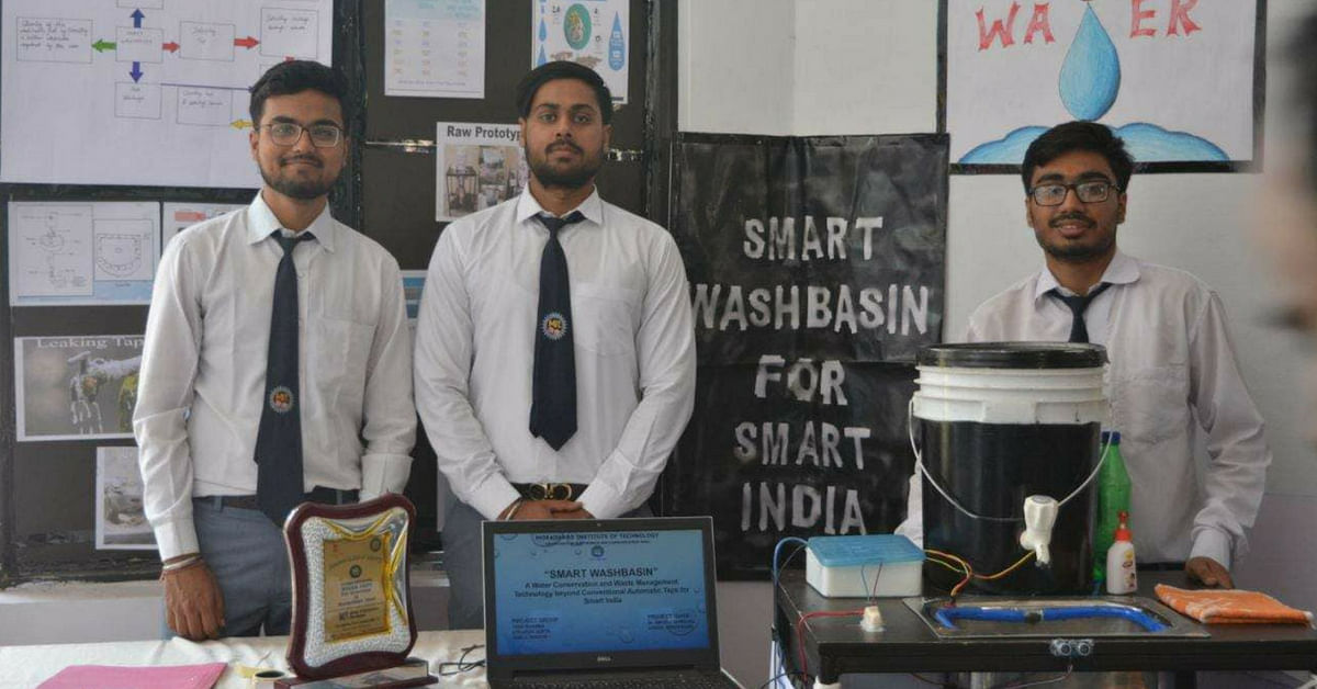 UP Engineering students develop smart wash basin to detect water leakage