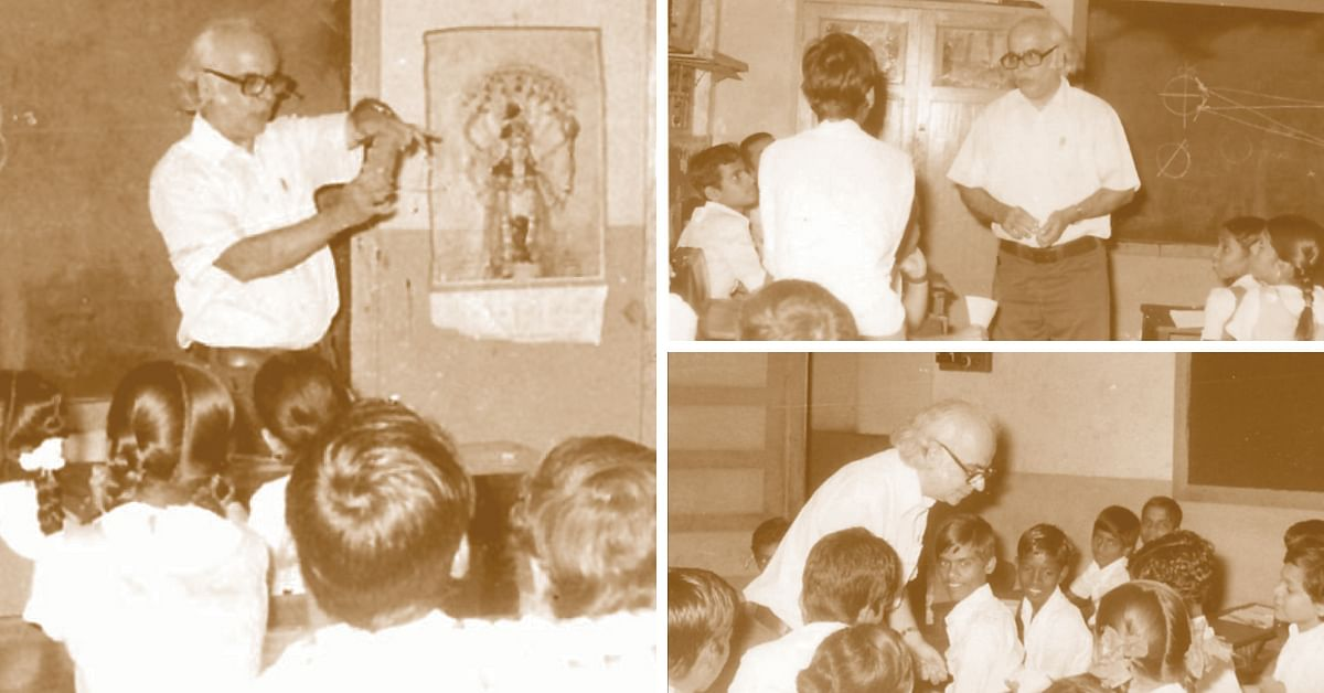 Prof. Yahs Pal Teaching underprivileged kids.