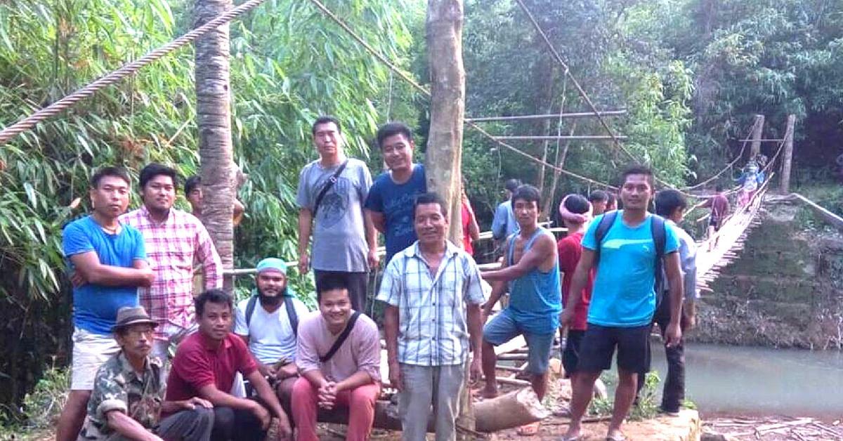 Flood-Hit Assam Villagers Rebuild Bridge Destroyed by Rains Without Govt. Help!