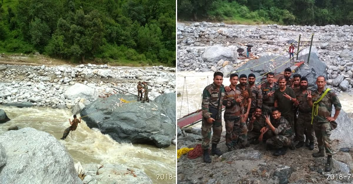 When a Broken Bridge Stranded 41 Families, the Army Built a New One in Just 36 Hours!