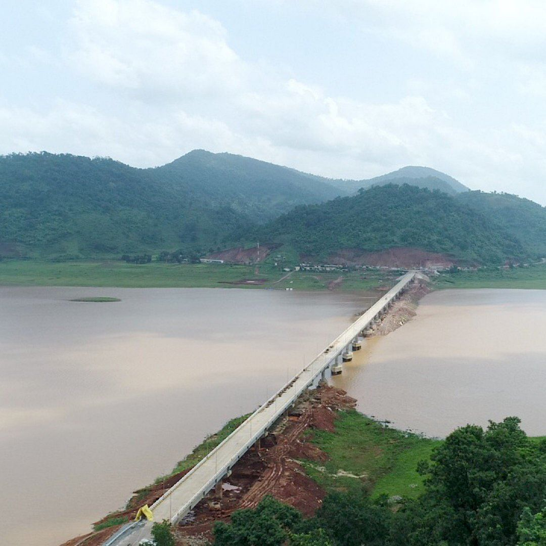 The 910-metre Gurupriya bridge. (Source: Twitter/Naveen Patnaik)