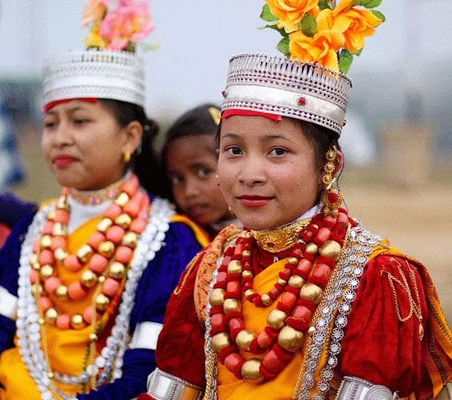 Khasi women in their traditional attire. (Source: Facebook/The Voice of the North East)
