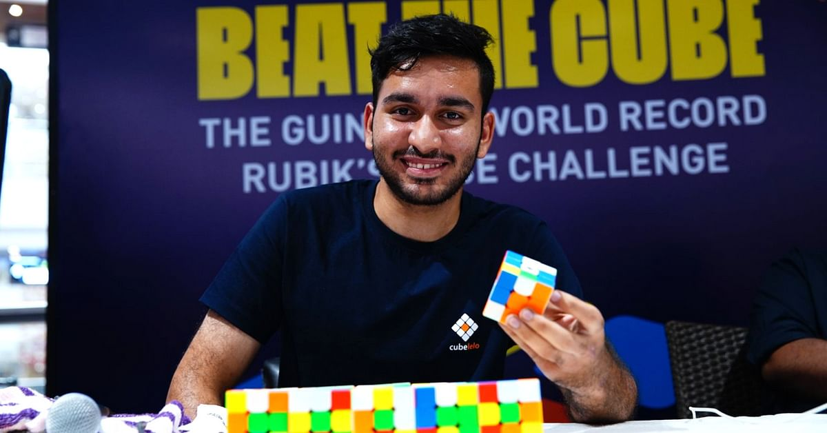 2,474 Cubes in 24 Hrs Using One Hand – Chennai Boy Sets New Rubik's Cube Record!