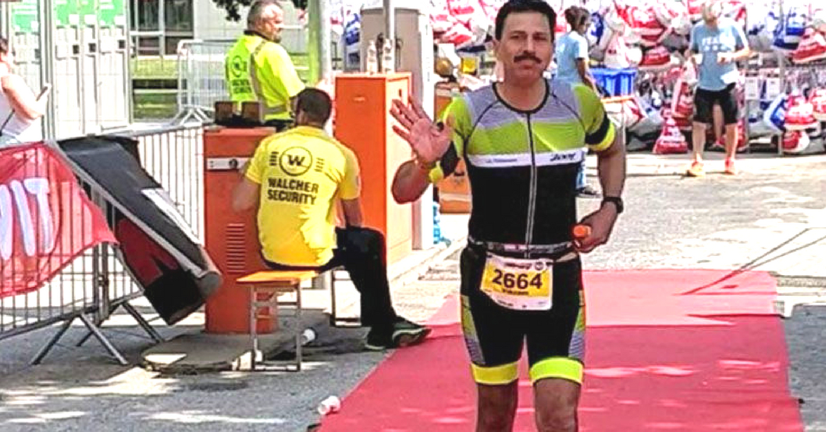 Major General Vikram Dogra, the first serving Indian Army officer to complete the Ironman Triathlon. Image Credit: AD GPI Indian Army