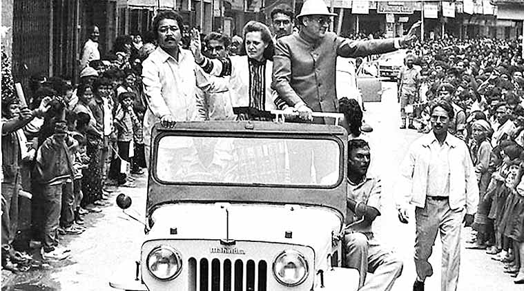 Rajiv and Sonia Gandhi in Aizawl on July 11, 1986, days after both sides signed the historic Mizo Peace Accord. (Source: PIB)