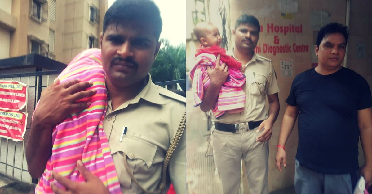 Mumbai Cop Wades Through Chest-Deep Water to Save Infant After Father's Tweet!