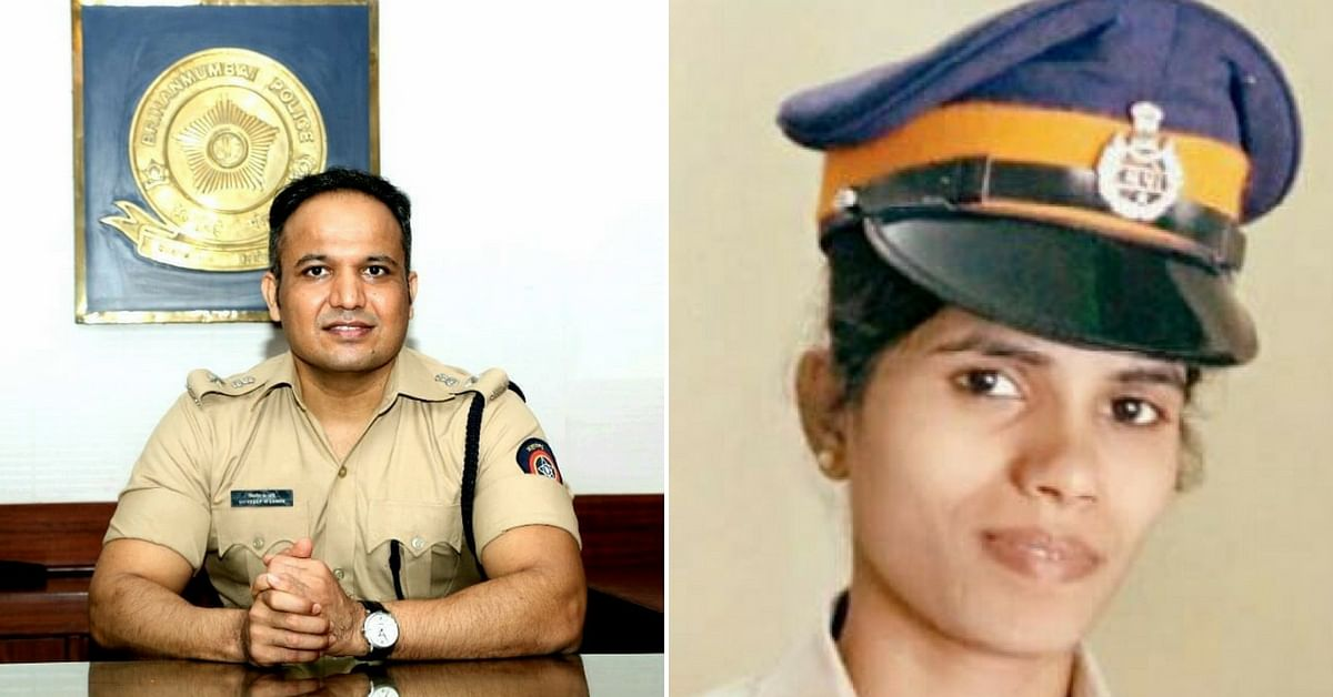 Mumbai Police's DCP Lande, and PSI Mulla helped the accident victims. Image Courtesy (Left) DCP Lande. Image Courtesy (Right) Mid-Day