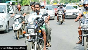 Riding a bike without a helmet in Hyderabad_ Well, the IIT and the city police are working on a system to fine you.Representative Image Only.