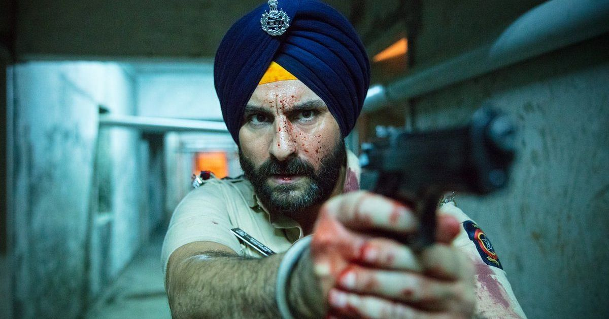 Saif Ali Khan's character Inspector Sartaj Singh. (Source: Youtube/Sacred Games Trailer)