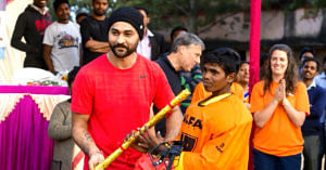 Sandeep Singh coaches youngsters at the academy, honing their skills so they can take their game to the next level.Sandeep Singh