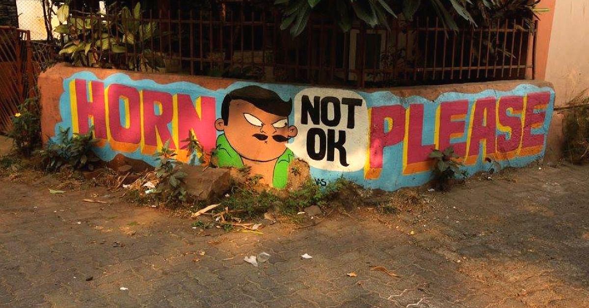 Street art by Jas Charanjiva, in Bandra, Mumbai, India. Image Credit:- Jas Charanjiva - Street Artist