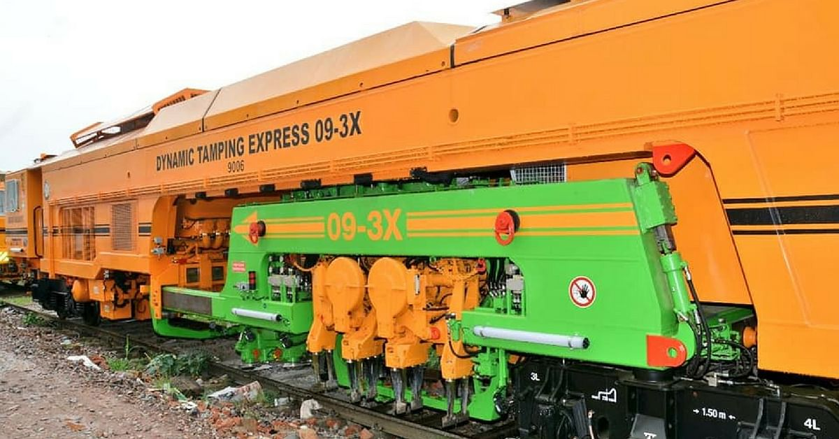 The Indian Railways has introduced hi-tech maintenance machines. Image Credit: Ministry of Railways