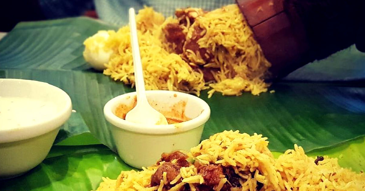 The flavours in the bamboo biryani, an Andhra speciality, are truly outstanding. Image Credit:Akram Kalloli