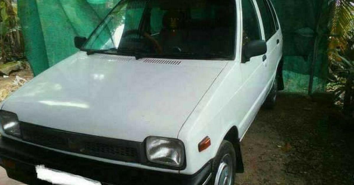 The ironic Maruti 800 revolutionised the automobile industry in India. Image Credit: കേരള ഷോപ്പിംഗ് വിൽക്കാൻ അല്ലെങ്കിൽ വാങ്ങാൻ