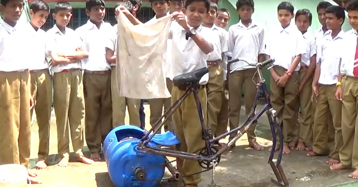 young Indian innovates washing machine
