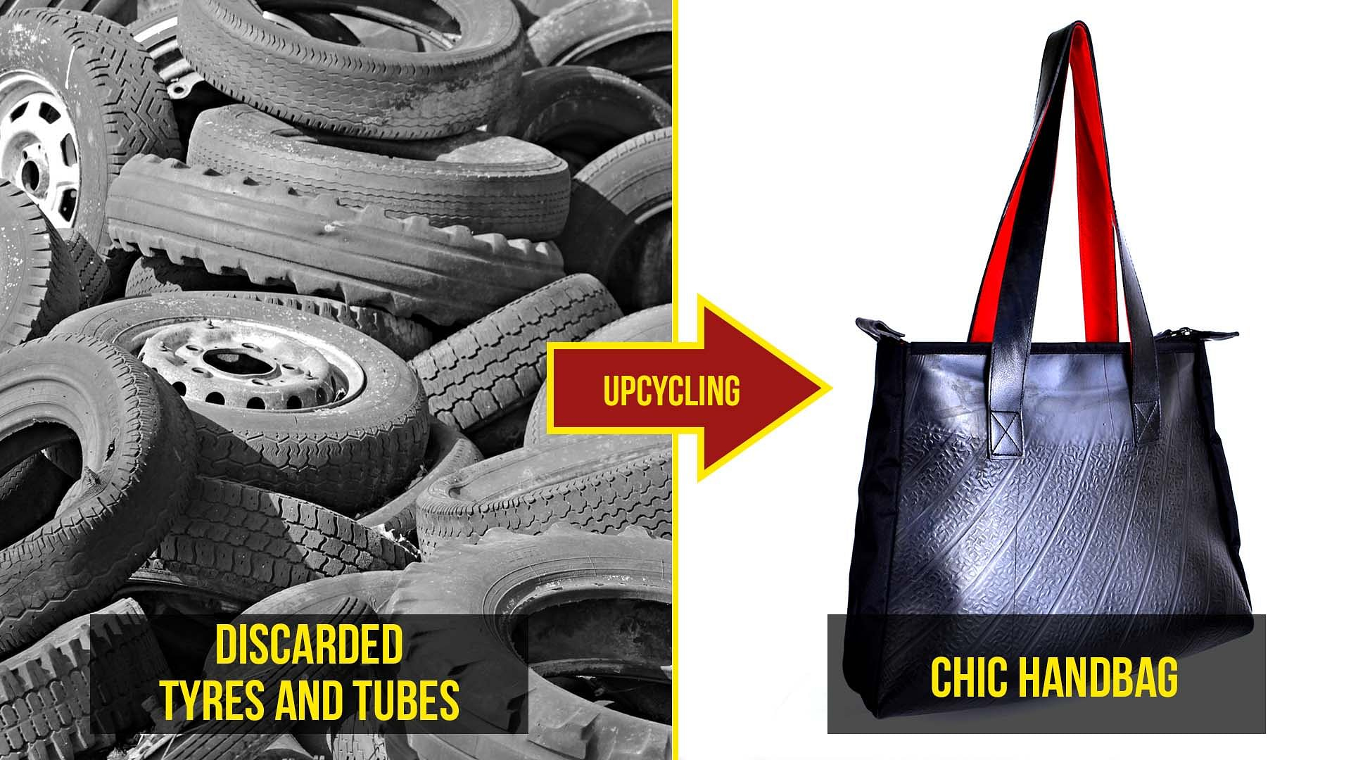 0b50aa612f Buy Upcycled Tyre Ladies Hangbag Online at The Better India