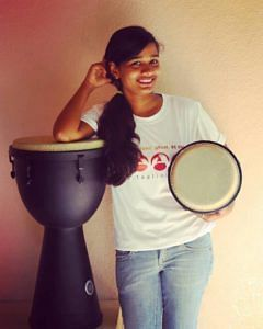 Abused by step father, bar dancer's daughter turns life around with drumming skills Sheetal Jain - drummer bar dancer's daughter (1)
