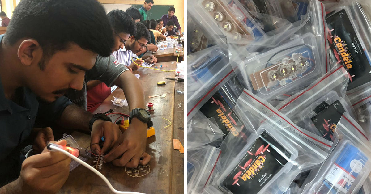 Candela- Kerala Engg students make low cost torches for flood hit victims