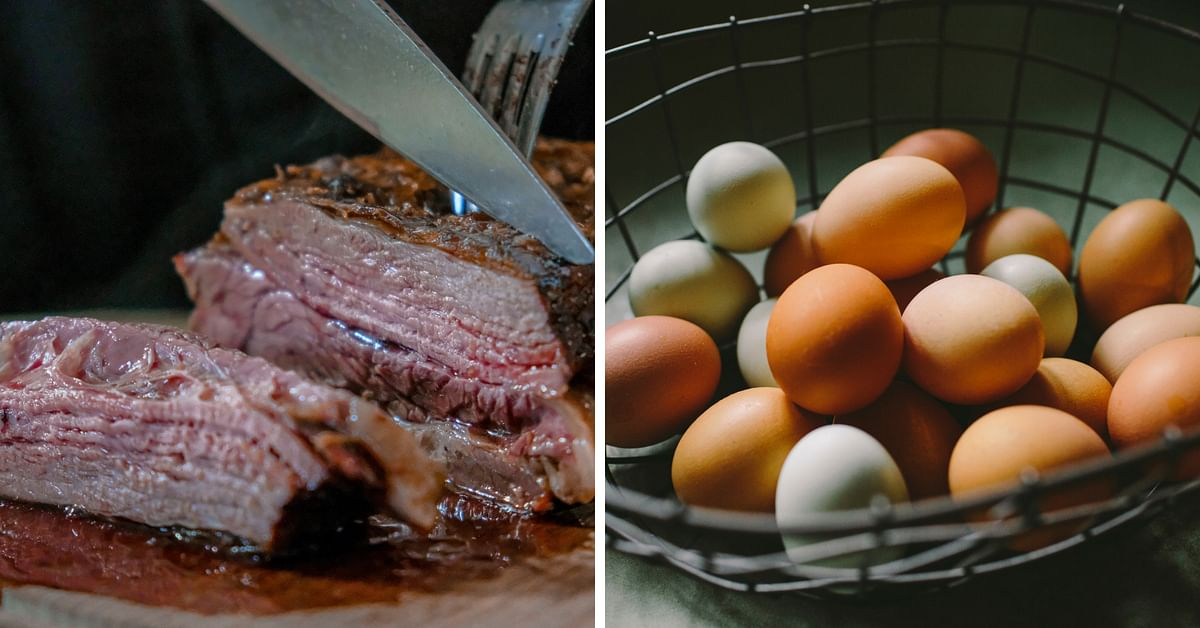 Meat and egg