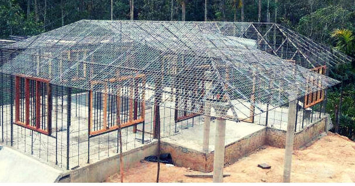 A ferrocement house being constructed in Kerala. Image Credit Baiju Sebastian