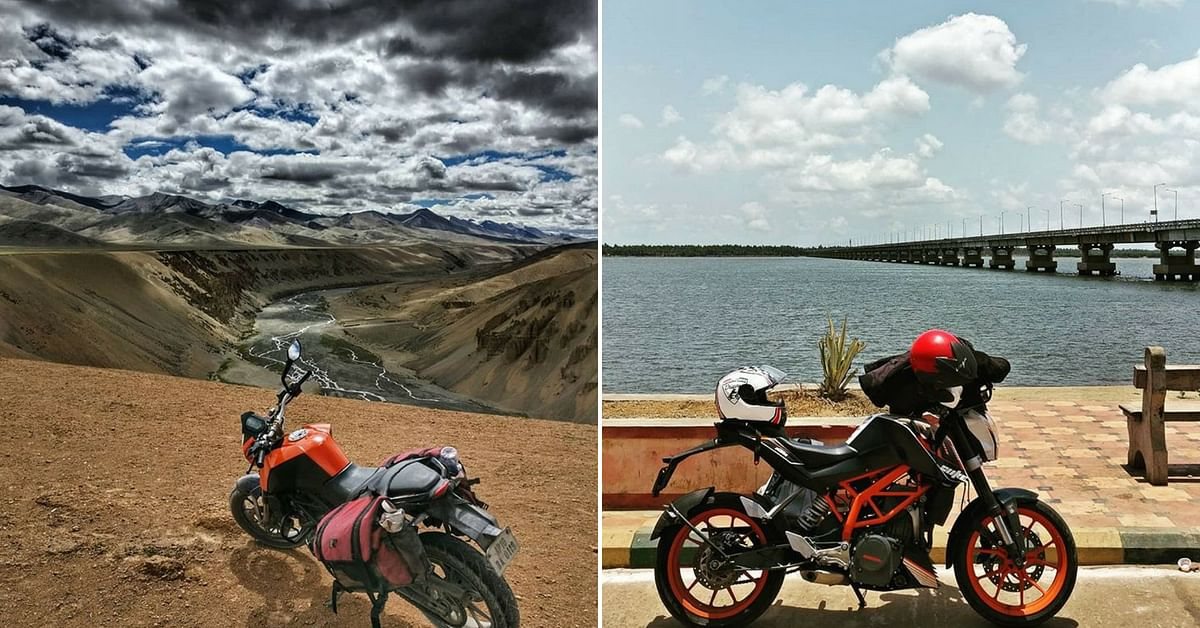 Around the country on a motorcycle, and never without a helmet. Image Credit: UrmezB