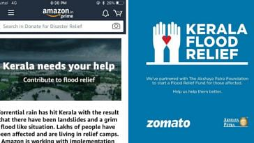 Corporates in India came together to help those struck by the Kerala floods. Image Credit: MemeSubordinates and Deepinder Goyal