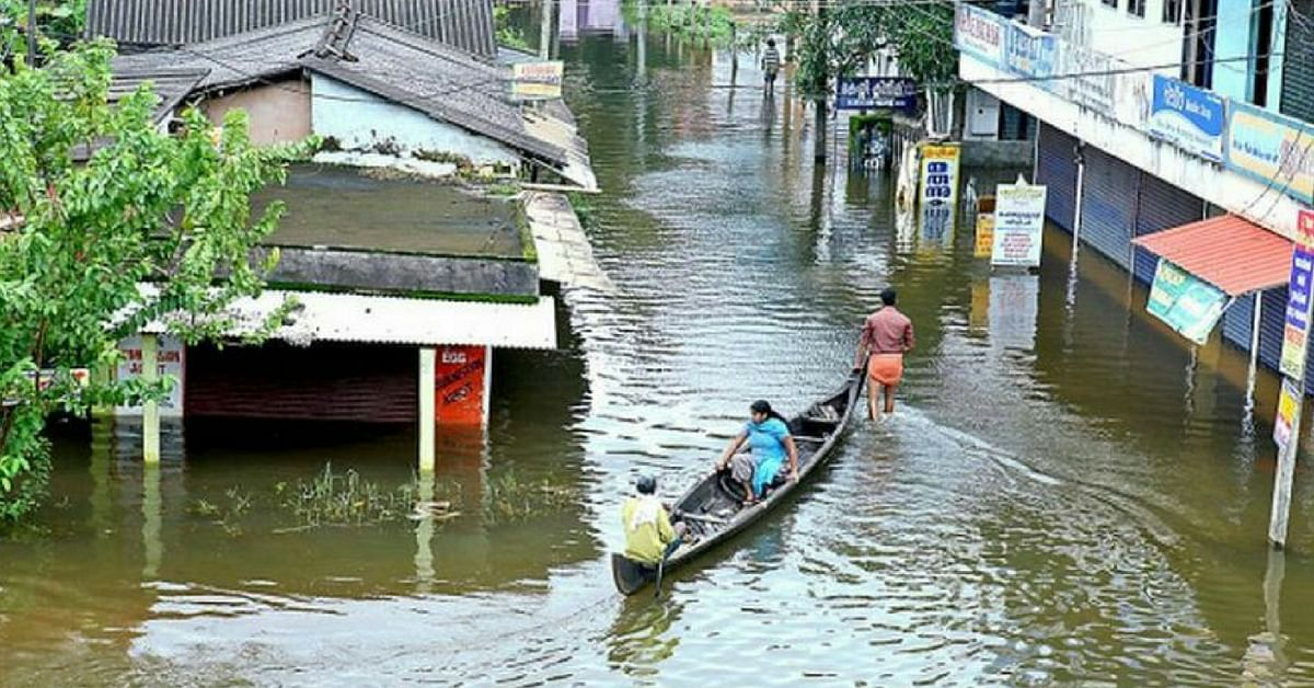 Entire towns are waterlogged in Kerala. Image Credit: Santhosh