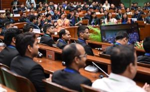 Young IAS officers who have recently been appointed Assistant Secretaries in the Government of India sitting during their interaction with Prime Minister Modi. (Source: narendrammodi.in)