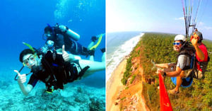 India has lots of opportunities for adventure sports, so go and get that adrenaline rush! Image Credit: Subarnas Tours and Travels & Varkala