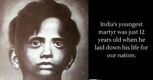 India's youngest martyr was just 12 when he laid down his life for our nation. Image Credit:Uttam Sahu