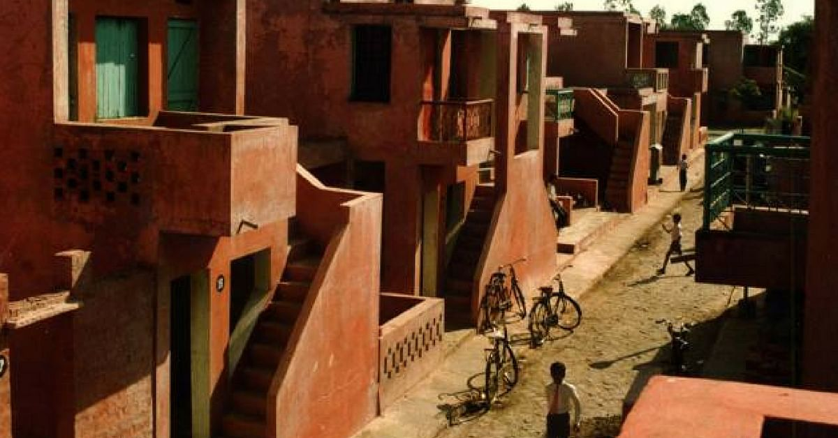 Indore's Aranya low-cost housing complex. Image Credit: Angel Muniz