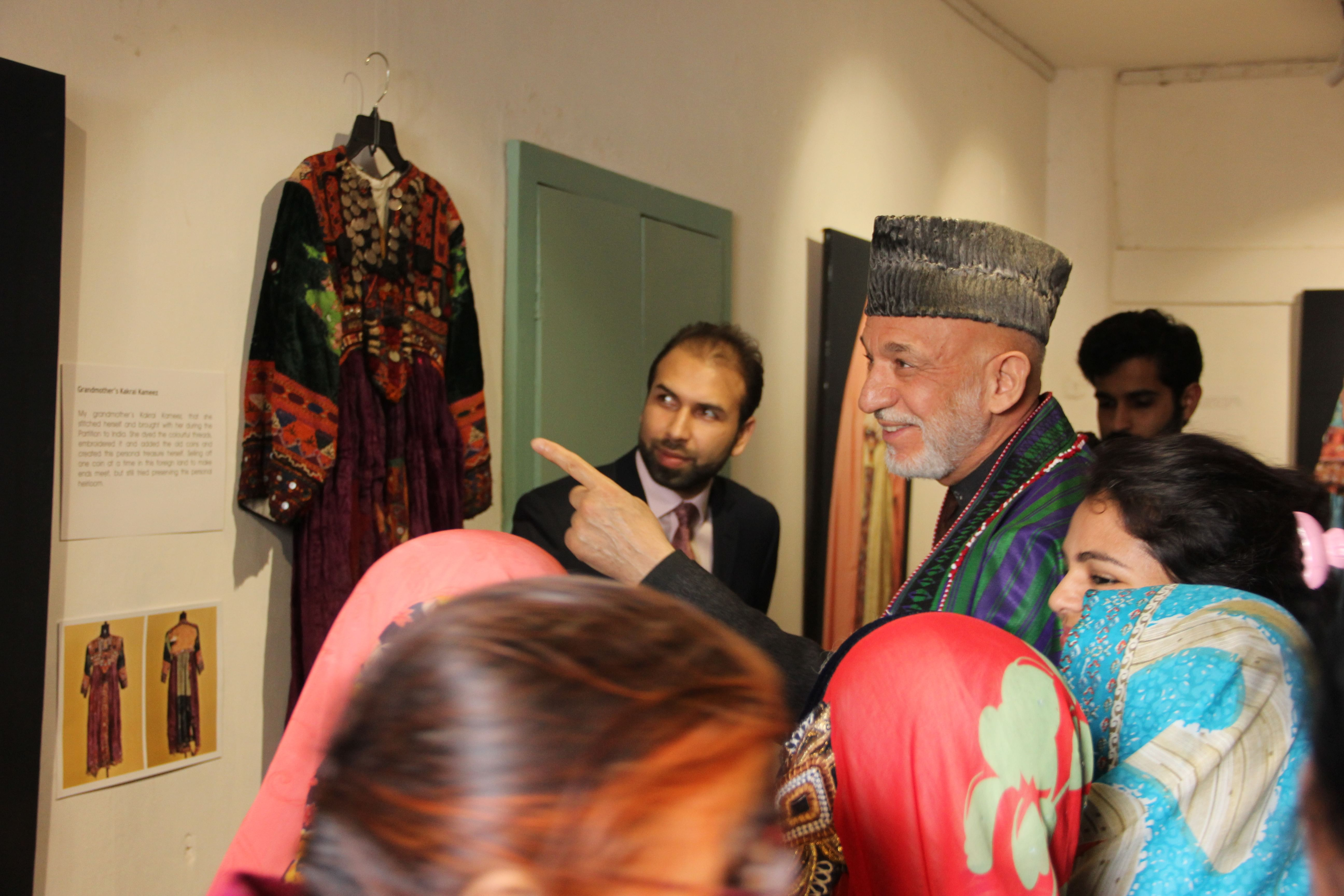 Former President of Afghanistan Hamid Karzai at the inauguration of Sheenkhalai Art Project in Jaipur in January this year.
