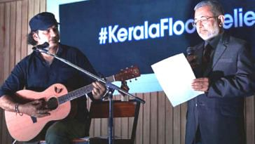 Supreme Court judge Justice Kurian Joseph and singer Mohit Chauhan at the event. (Source: Twitter/TickTick News)