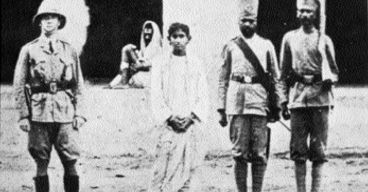 Khudiram, after he was apprehended by the cops for his involvement in the bombing. Photo Source