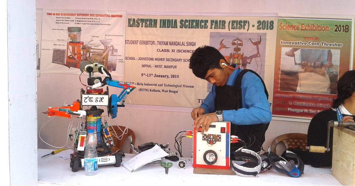 Ingenious Manipuri School Boy Uses Scrap to Build Robot For Domestic Work!
