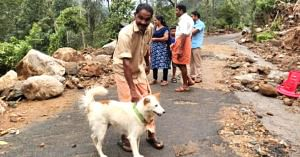 Rocky saved his family from a disastrous landslide, in Kerala. Image Credit: Sneha Koshy