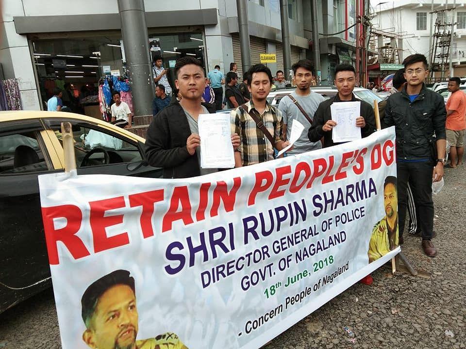 Many students, activisists and civil society members in Nagaland came out in support of Rupin Sharma. (Source: Facebook/Hongpi Moaba Kheang)