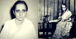 Subhadra Joshi and former Prime Minister Indira Gandhi (Source: Wikimedia Commons)