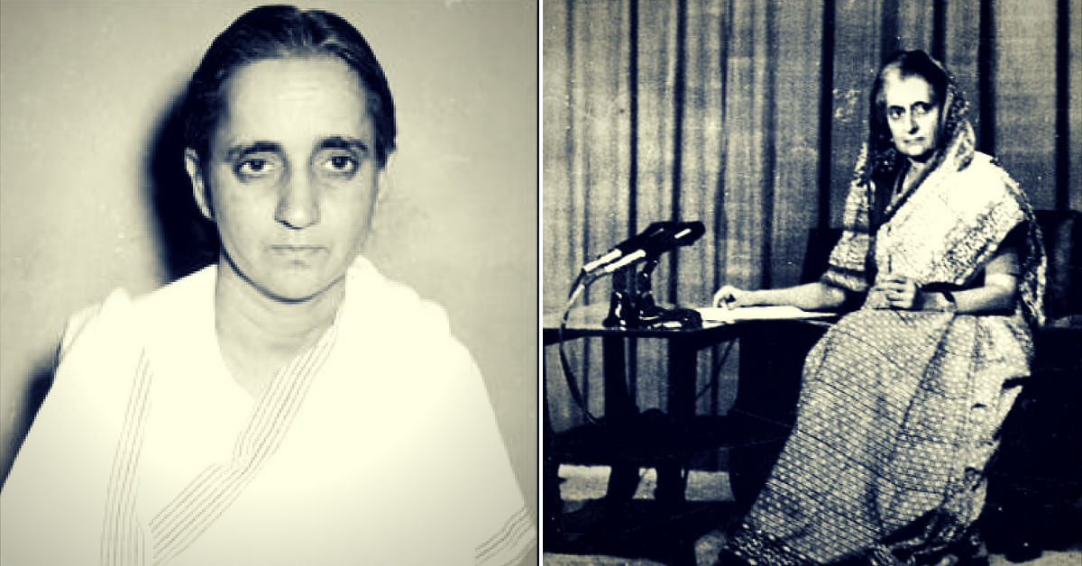 Subhadra Joshi and former Prime Minister Indira Gandhi (Source: Wikimedia Commons)