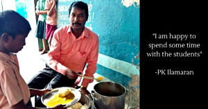 The Chennai teacher religiously serves 120 students breakfast each morning. Image Credit: PK Ilamaran