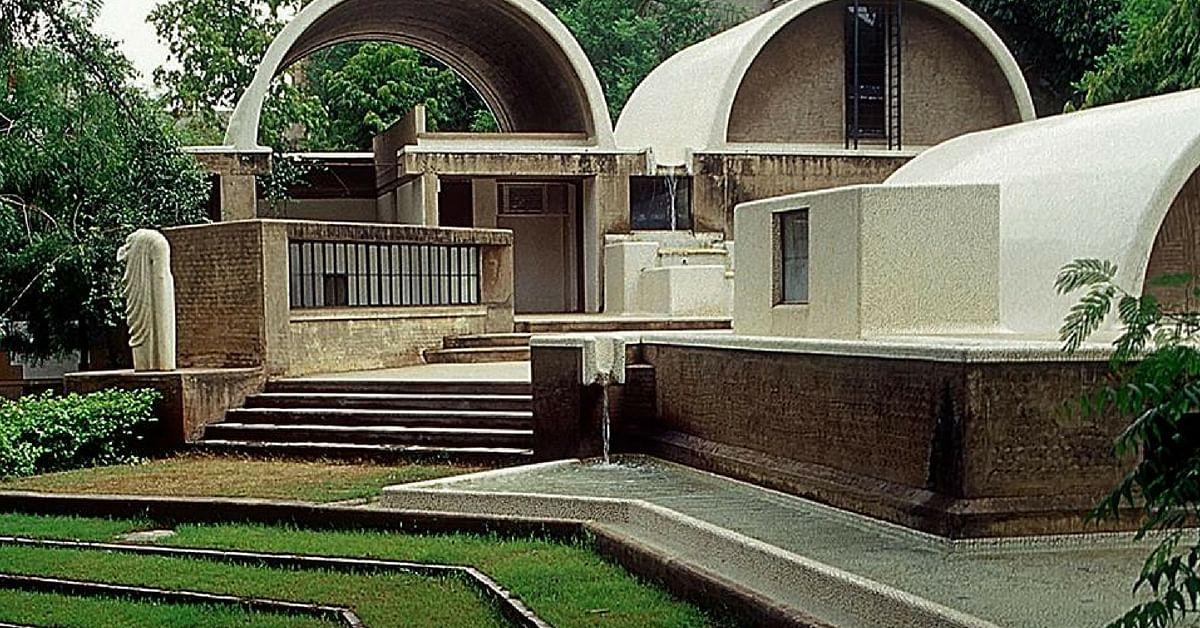 The gorgeous Sangath Design Studio. Image Credit: Aufriss International Design School
