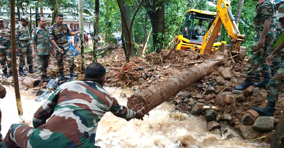 The rescue operations in Kerala are underway. Image Credit: Mohanlal