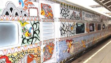 This Bihar-Delhi train is a stunning artwork on wheels.Image credit: Northern Railway