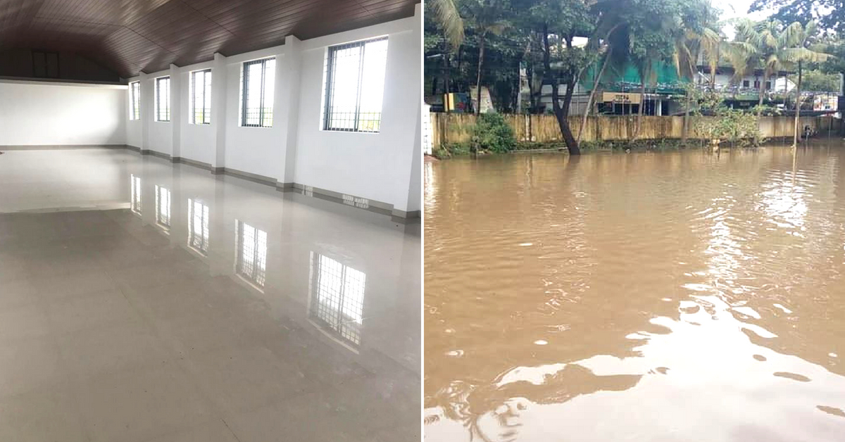 Victims of the Kerala flood left the shelter spotless after occupying it. Image Credit: Gopinath Parayil, Daniel Antony