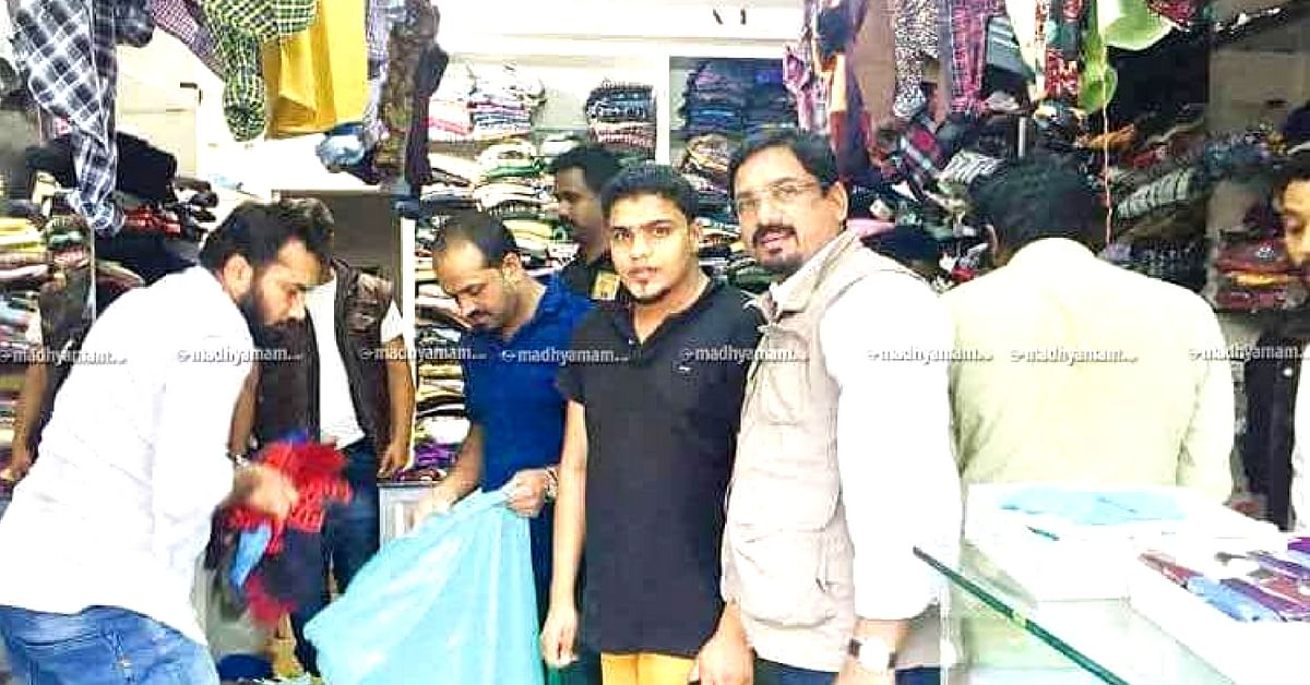 "Wayanad-based PK Faizal donated his showroom's stock for the Kerala flood victims. Image credit: <a href=""https://www.madhyamam.com/en/kerala"">Madhyamam</a>"