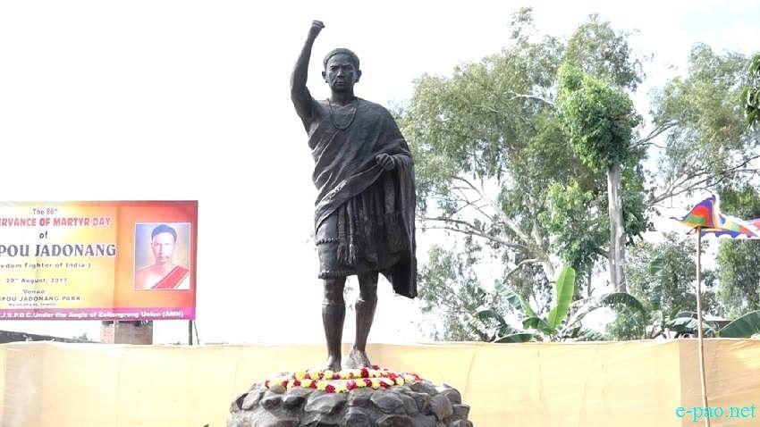 Bronze statue of Haipou Jadonang in Imphal. (Source: Facebook/Angam)